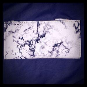 Handbags - Leatherette marbled wallet